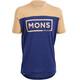 Mons Royale M's Redwood V Box Logo T-Shirt Navy/Desert